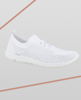 These ultra flexible white trainers are the perfect sporty fashion fix for keeping active in