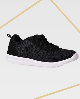 Light and comfortable and in a classic black hue, you'll be set for every workout with these mesh trainers