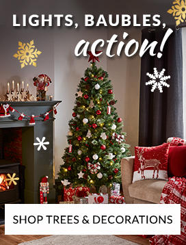 shop christmas trees and decorations