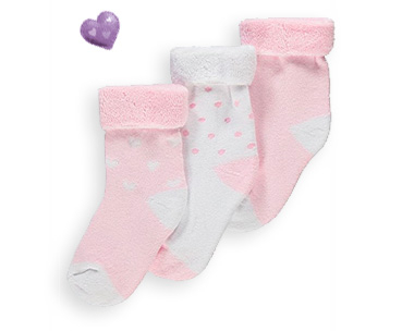 Keep little toes toasty with our cosy range of baby socks