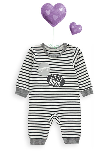 Sleepy time? This striped sleepsuit will ensure the sweetest of dreams