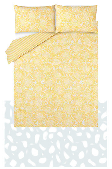 Brighten up your bed with our sunflower duvet set