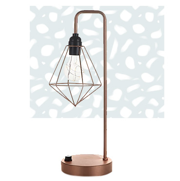 Add a cosy glow with to your space with our dimmable geometric lamp