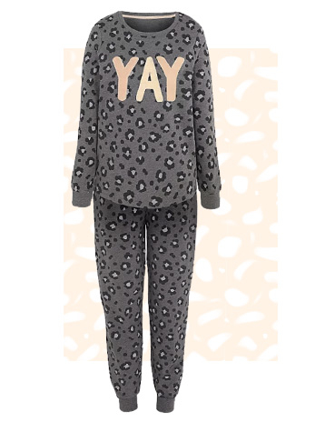 Make a statement at bedtime with a slogan PJ