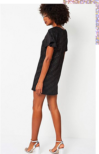 Out-sparkle everyone in this fabulous tunic dress with textured finish