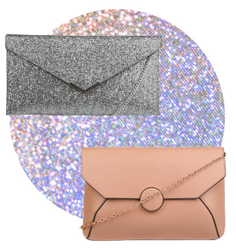 Clutch bags are ideal for holding essentials