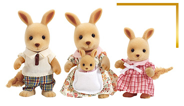 Sylvanian Families come as a kangaroo trio, squirrel family and more