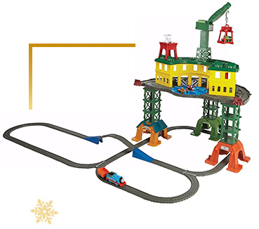 Build train tracks together and go on exciting journeys