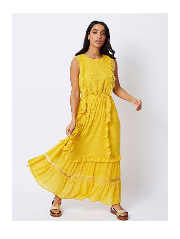 Stand out from the crowd in a bright yellow maxi dress