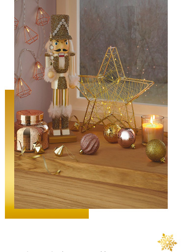 Deck our your home with everything from scented candles to lights and decorations