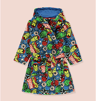 Marvel fan? Get them this dressing gown covered with famous superheroes