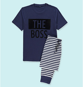 See who's the real boss of the family in this mini me slogan set