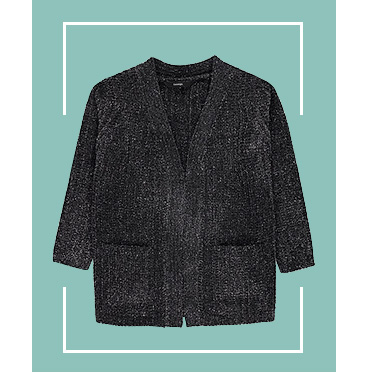 They won't be able to resist the cosy allure of soft chenille with this shimmering cardigan