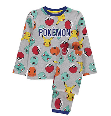 Help them dream of catching 'em all with these grey marl Pokémon pyjamas