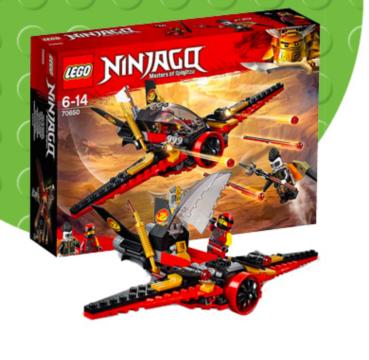 Shop LEGO Ninjago Desinty's Wing playset