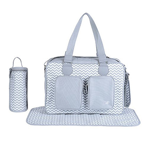 This grey changing bag from My Babiie by Billie Faiers provides you with plenty of space to store all your baby's necessities