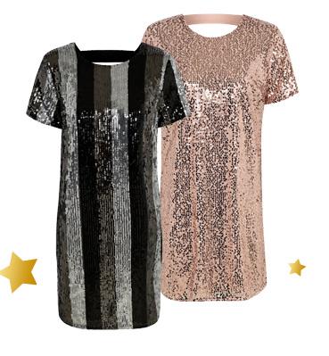 Sparkle and shine this party season. Shop sequin shift dresses