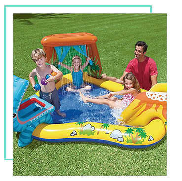 There's plenty of fun to be had in the sun with an inflatable play centre