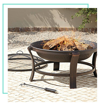 Snuggle up outside with a stylish fire pit