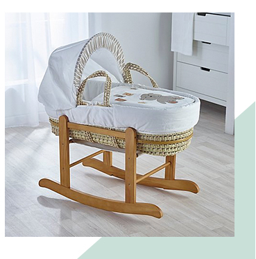 Our adorable range of moses baskets is full of comfy and snug options for sleeping