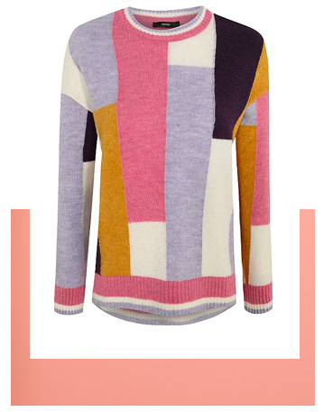 Shop colour block jumper