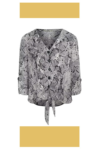 Shop snakeskin print blouse