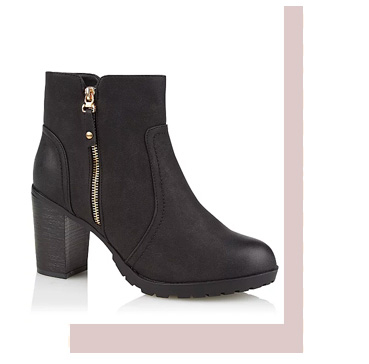 Step into style. Shop black heeled ankle boots