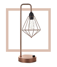 The brightness of our geometric table lamp can be adjusted to give you the exact light you need for your task