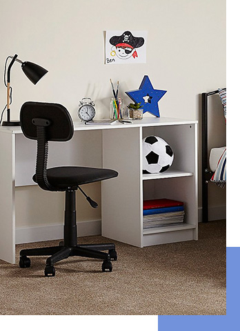 Our desks and chairs for kids will give them a practical and comfortable place to read, work and play