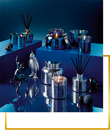 Shop scented candles and ornaments