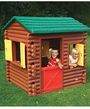 Made with realistic log detailing, an opening door and shutters, they're sure to have hours of fun in this playhouse