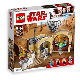 Visit a tavern on Tatooine with this LEGO Star Wars set, including Han Solo, Greedo, Wuher and Sandtrooper figures