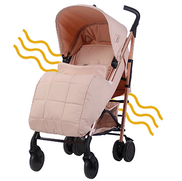 This My Babiie Billie Faiers MB51 Rose Blush Stroller is made with lightweight aluminium, making it super manoeuvrable