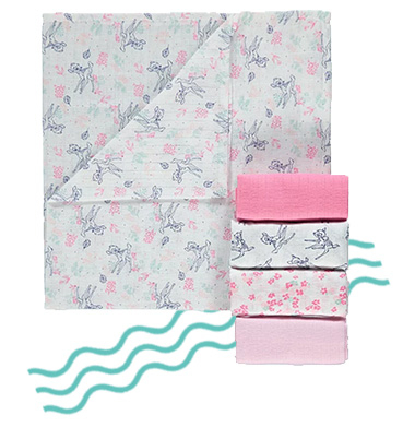 Our soft muslin squares are ideal for mopping up those everyday messes