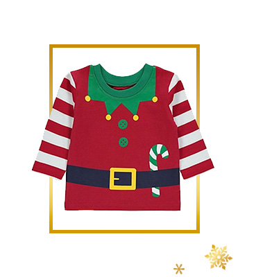 Kit little ones out with our fun Christmas clothing range