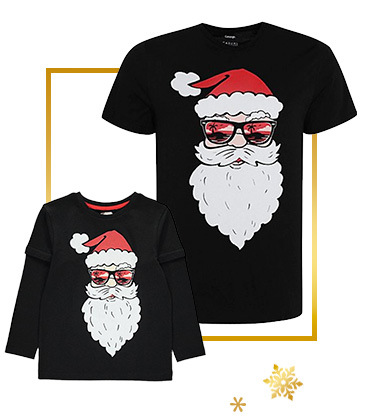 Shop our range of matching Christmas t-shirts for you and your little one