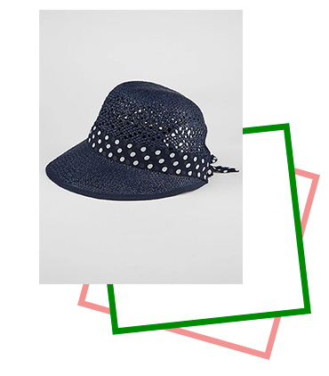 This navy cloche hat helps keep you covered whilst adding effortless chic appeal