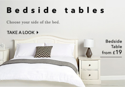 Find a great range of bedside tables at George.com