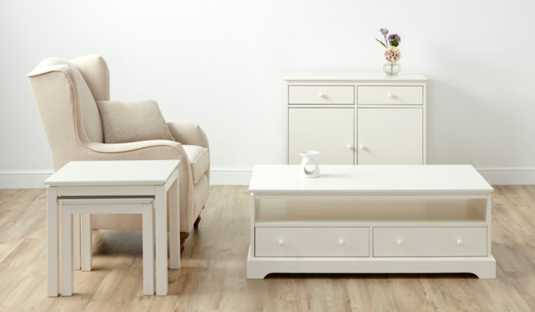 George Home Gilmore Living & Dining Furniture Range - Cream