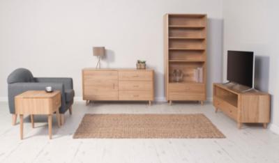 Idris Living Room Furniture Range Oak and Oak Veneer Living
