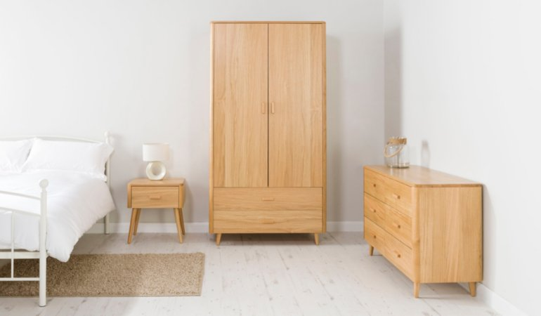 George Home Idris Bedroom Furniture Range - Oak and Oak Veneer
