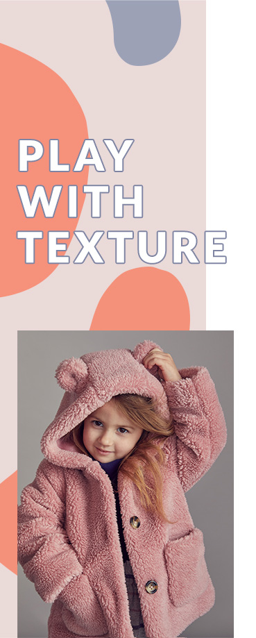 Wrap them up for winter walks in a cosy pink teddy coat
