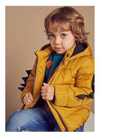 A big puffa jacket will keep them snug and cosy