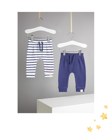These two sailor-style joggers are the perfect way to keep your little one comfy