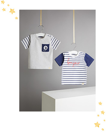 Update their first wardrobe with these nautical striped T-shirts