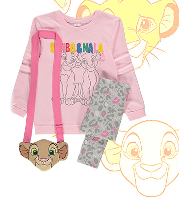 If they're a Nala fan, this sweatshirt, leggings and bag outfit will be a big hit