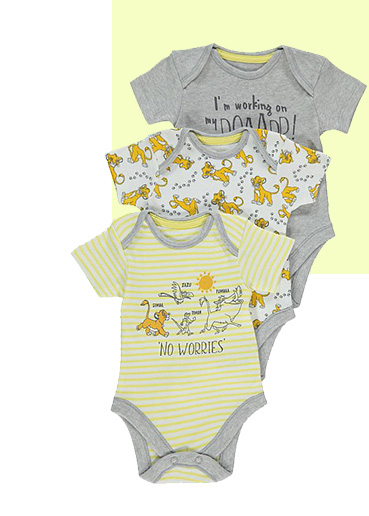 Whether they're off on an adventure or just snuggling up for a Disney day, they'll love these short sleeved bodysuits