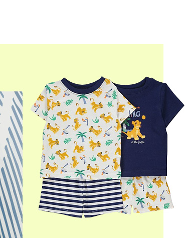 Get them ready for sunny days with these Disney T-shirts and shorts