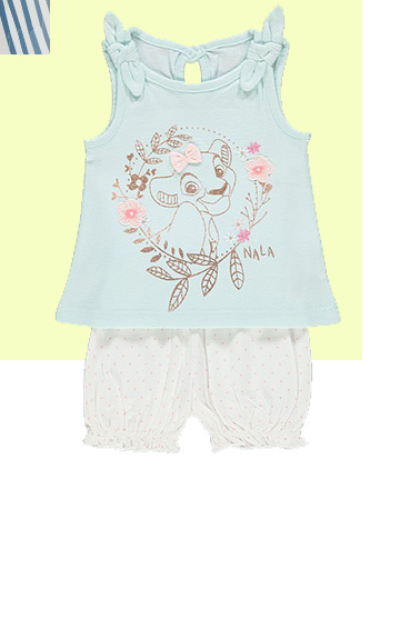 Give your little Disney fan a look that's ready for the sunny weather with this vest top and shorts outfit