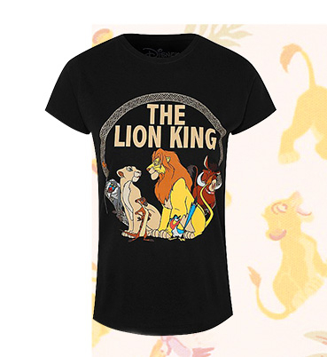 Printed with The Lion King crew, this Disney T-shirt is a great choice for your off duty wardrobe